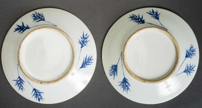 PAAR GRÖSSERE TELLER Blauweiß-Porzellan. China, Qing-Dynastie, 19. Jh. Beide Teller bieten das - Image 4 of 4