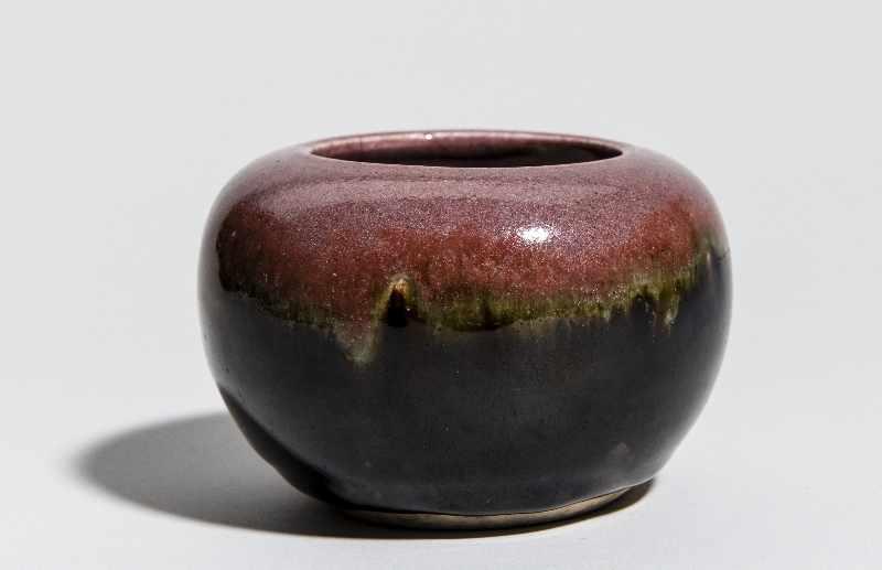 WASSERGEFÄSSGlasiertes Steingut. China, Qing-Dynastie, ca 19. Jh. Wirkungsvolle Glasur mit - Image 5 of 7