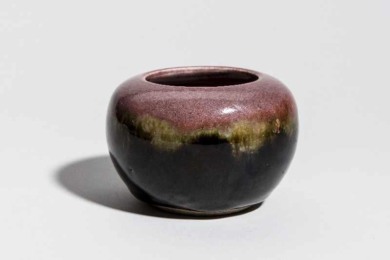 WASSERGEFÄSSGlasiertes Steingut. China, Qing-Dynastie, ca 19. Jh. Wirkungsvolle Glasur mit - Image 2 of 7