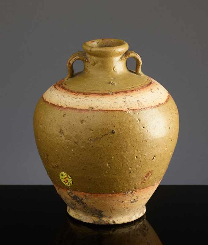 KUGELIGES TOPFGEFÄSSGlasierte Henan-Keramik. China, Ming bis Qing, ca. 16. Jh. – 18.Jh. Kugelige - Image 3 of 6