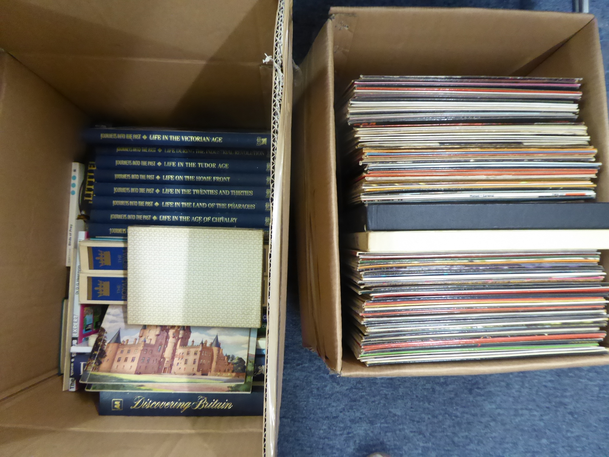 Lot 298 - A QUANTITY OF LP RECORDS AND A SELECTION OF BOOKS (2 BOXES)