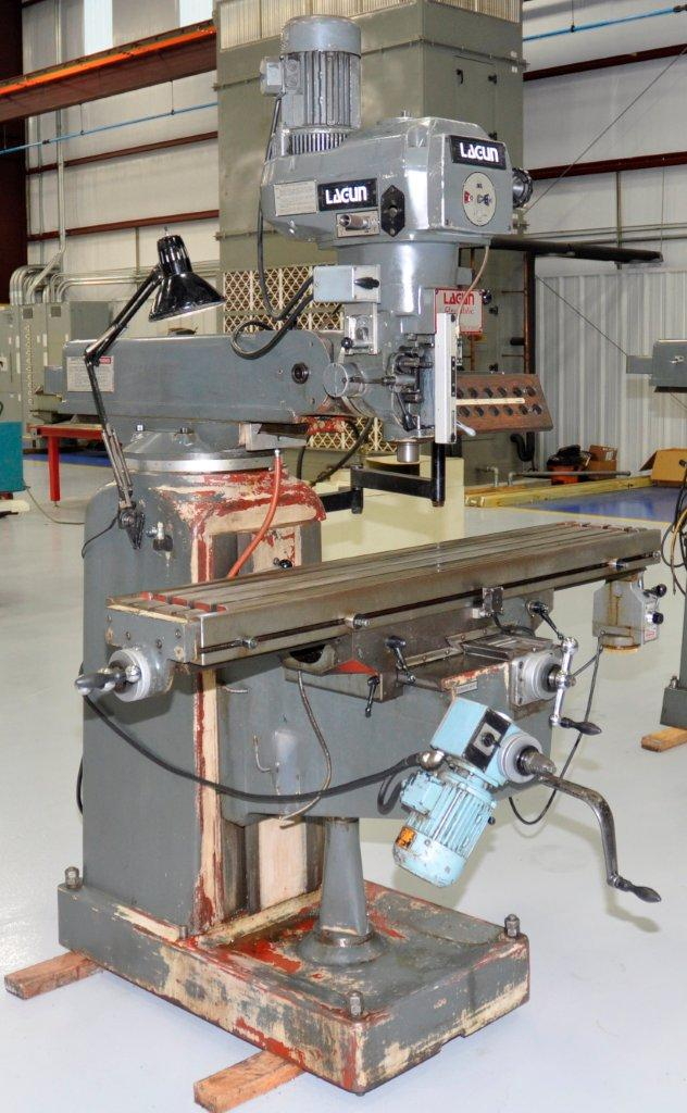 Lot 11 - VERTICAL MILL, LAGUN MDL. FTV-3L, 10 x 50 table, R8 spdl., servo pwr. feed, pwr. knee, wired for D.