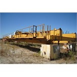 OVERHEAD BRIDGE CRANE, LANDEL 20 T. X APPROX. 67' SPAN, dbl. box girder, top riding, pendant