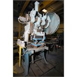 "PUNCH PRESS, V&O 43 T. CAP. MDL. 4, 4"" stroke, 4"" adj., 33"" R-L x 20' F-B bed area, air clutch &"