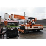 MOBILE CRANE, GROVE 30 T. CAP., 4-section hyd. boom, mtd. to 3-wheel cushion tire crane unit w/