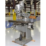 VERTICAL MILL, BRIDGEPORT SERIES I, 9 x 48 table, pwr. feed, Kool Mist, spdl. spds: 140- 4200 RPM,