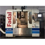 "CNC VERTICAL MACHINING CENTER, FADAL MDL. 3020, new 2000, 3 axis, Siemens CNC control, 20"" x 40"" T-"