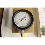 "LOT OF UNUSED PRESSURE GAUGES, (Approx. 4) MARSHALLTOWN, 4.5"" PROC, 1/4 NPT, 0/100 PSI, bottom"