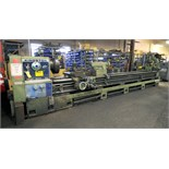 "GAP BED ENGINE LATHE, KINGSTON 34"" X 196.9"" MDL. HR5000, new 1981, 34"" sw. over bed, 24"" sw. over"