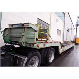 TRAILER, LANDOLL HAUL-ALL, new 1997, 77,000 lb. G.V.W.R., all axles, bar grate steel deck w/extra