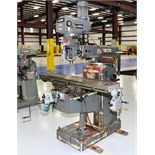 VERTICAL MILL, LAGUN MDL. FTV-3L, 10 x 50 table, R8 spdl., servo pwr. feed, pwr. knee, wired for D.