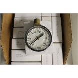 "LOT OF UNUSED PRESSURE GAUGES, (Approx. 25)  MARSHALLTOWN, 2.0"", 23KT, 0/30 PSI, 1/4"" bottom"