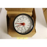 "LOT OF UNUSED PRESSURE GAUGES, (Approx. 13)  MARSHALLTOWN, 2.5"", 117C, 0/60 KPA, 1/4"" back"