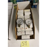 "LOT OF UNUSED PRESSURE GAUGES, (Approx. 19) MARSHALLTOWN, 2.0"", 300, 400, 600 KPA, 1/4"" bottom"