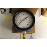 "LOT OF UNUSED PRESSURE GAUGES, (Approx. 15)  MARSHALLTOWN, 4.5"", 403, 0/60 PSI, 1/4"" bottom"