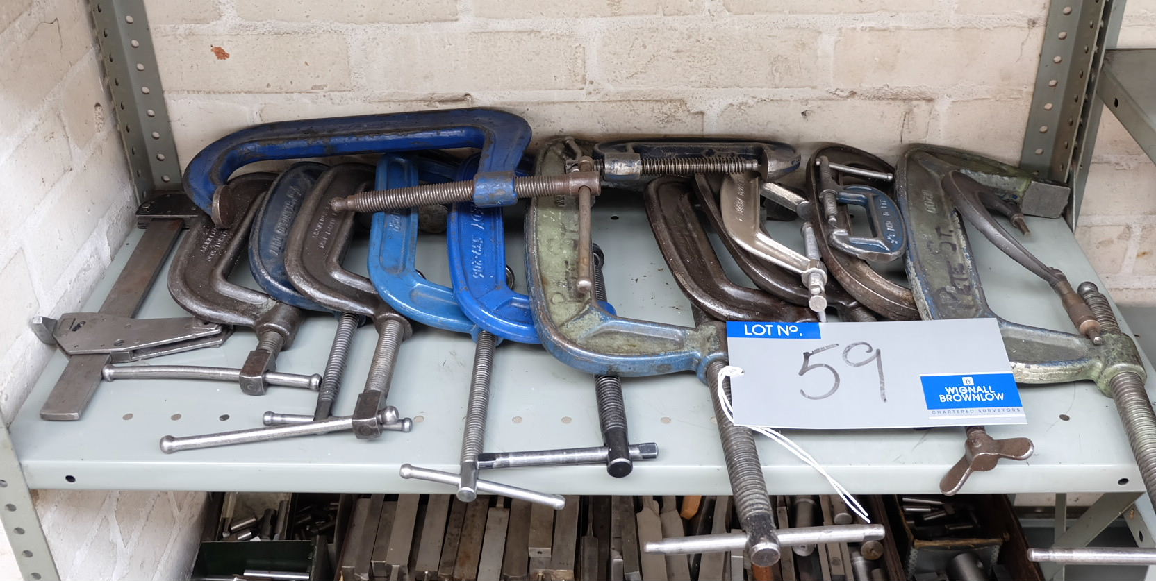 Lot 59 - 13 Assorted G Clamps.