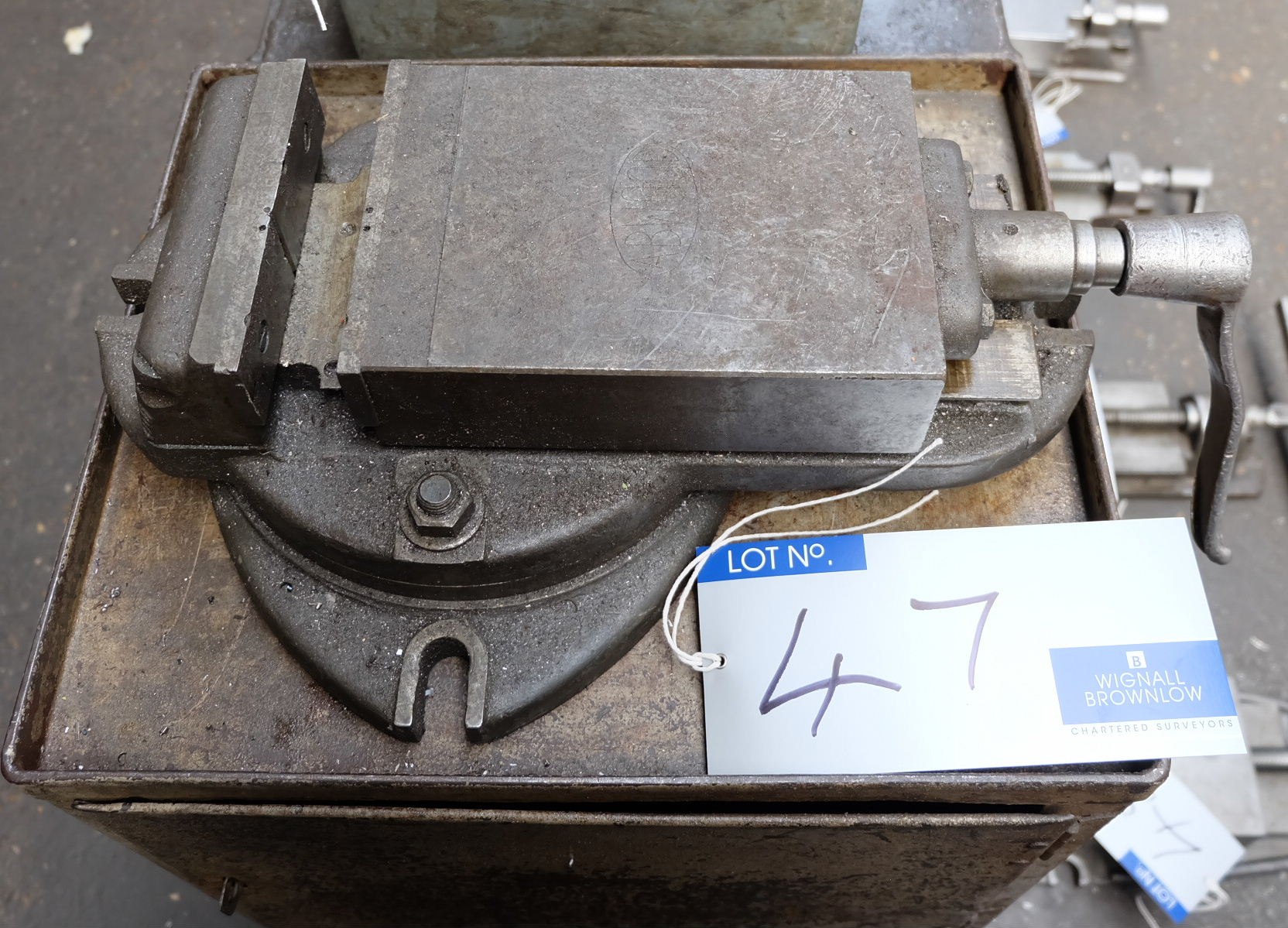 Lot 47 - An Abwood 6in Swivel Machine Vice.
