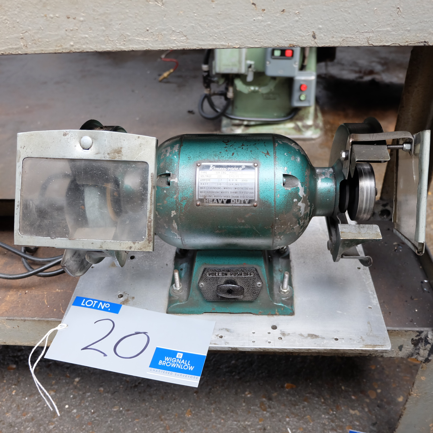 Lot 20 - A Kamasa Type 506CBB 6in Double Ended Bench Grinder (1ph).
