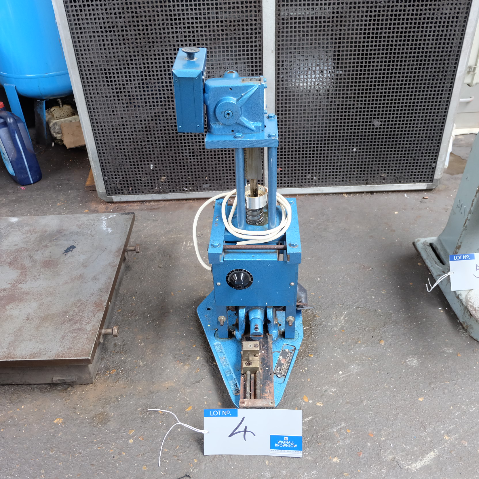 Lot 4 - A K&M Bench Type Vertical Injection Moulding Machine.