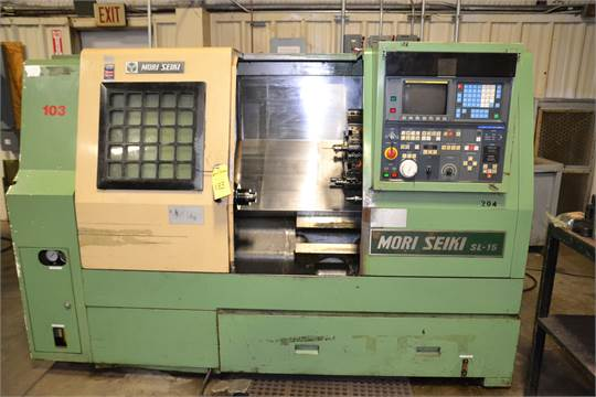 Mori Seiki SL-15 CNC Lathe, Fanuc Series O-T control, 5C