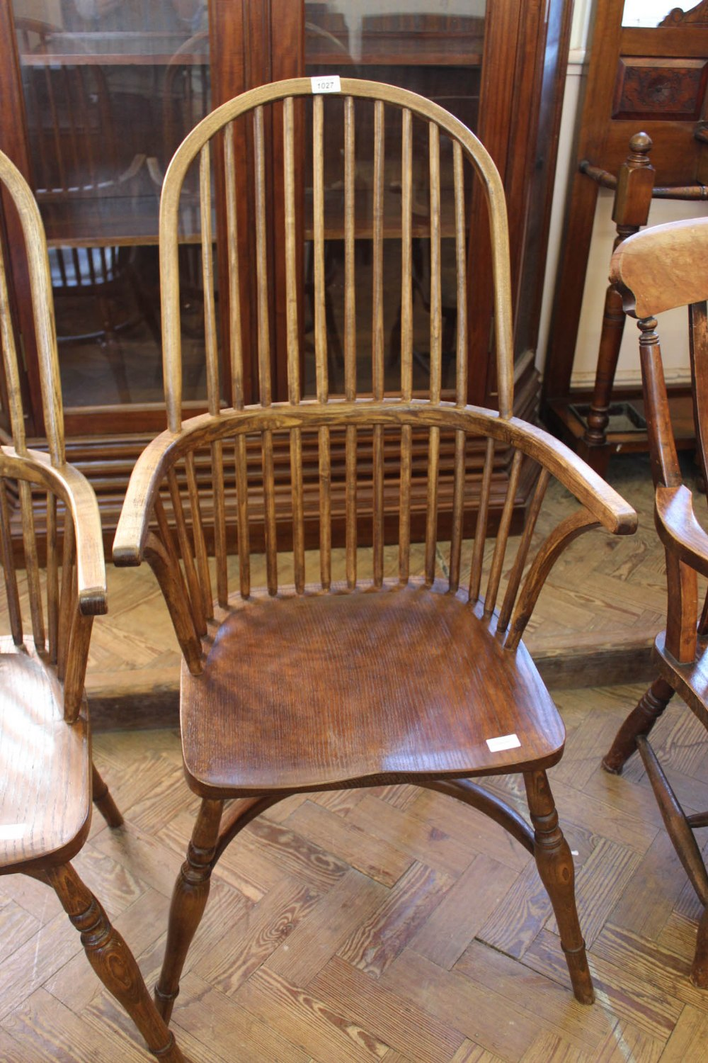 Lot 1027 - A traditionally locally crafted Windsor chair individually hand made from native hardwoods