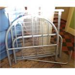 A modern metal single bed frame