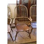A traditionally locally crafted Windsor chair individually hand made from native hardwoods