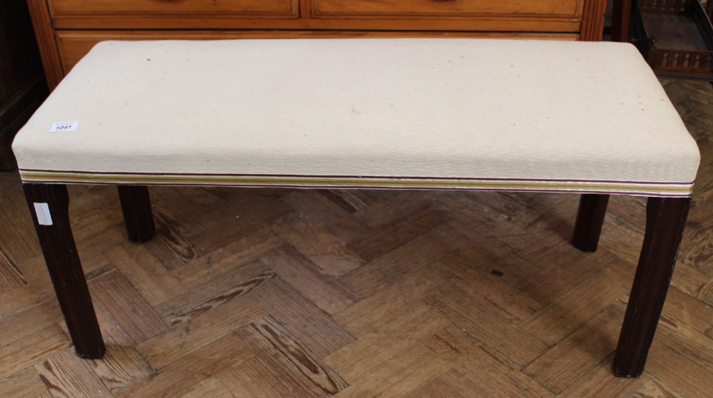 Lot 1041 - A 19th Century long footstool