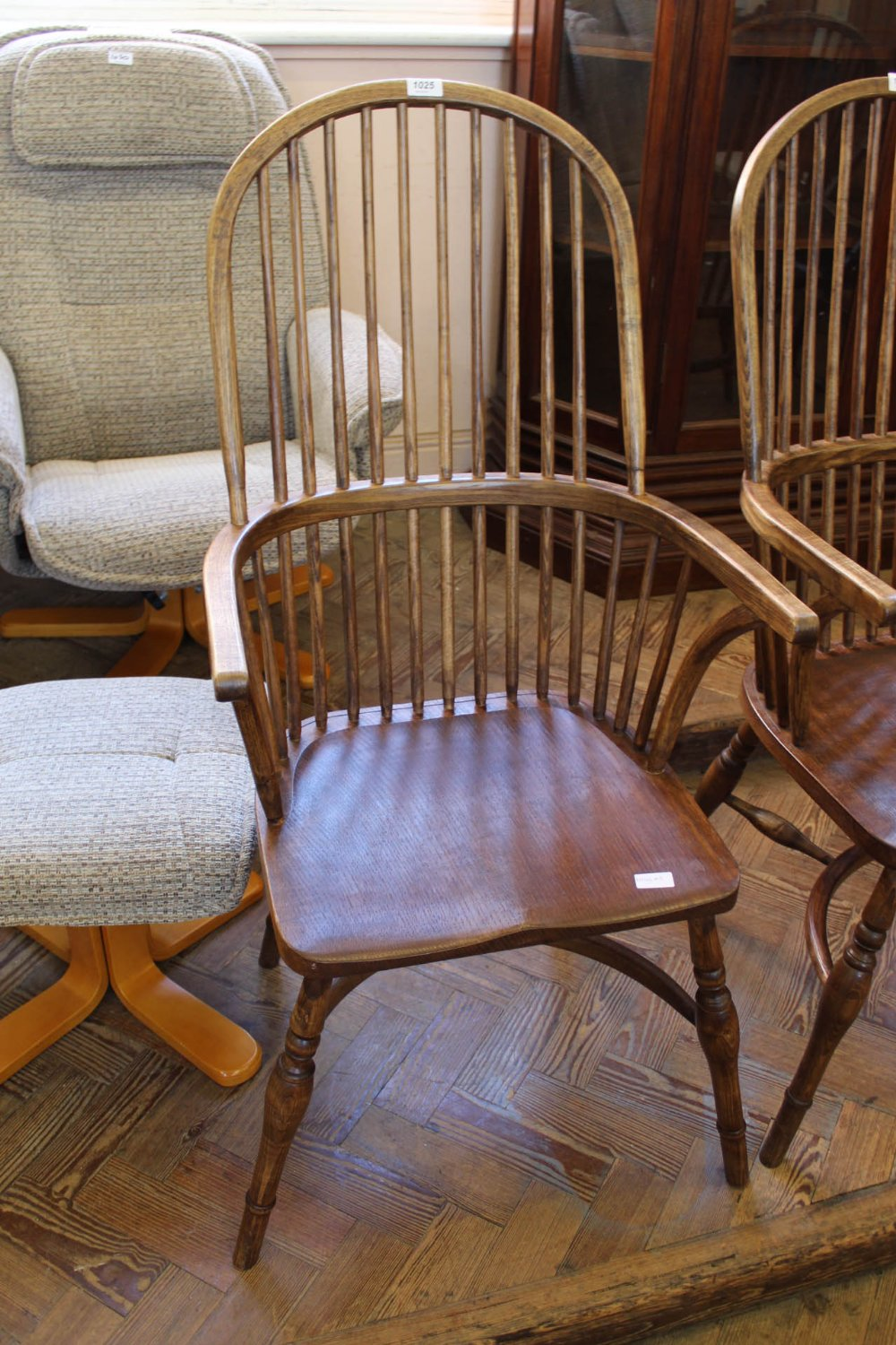 Lot 1025 - A traditionally locally crafted Windsor chair individually hand made from native hardwoods