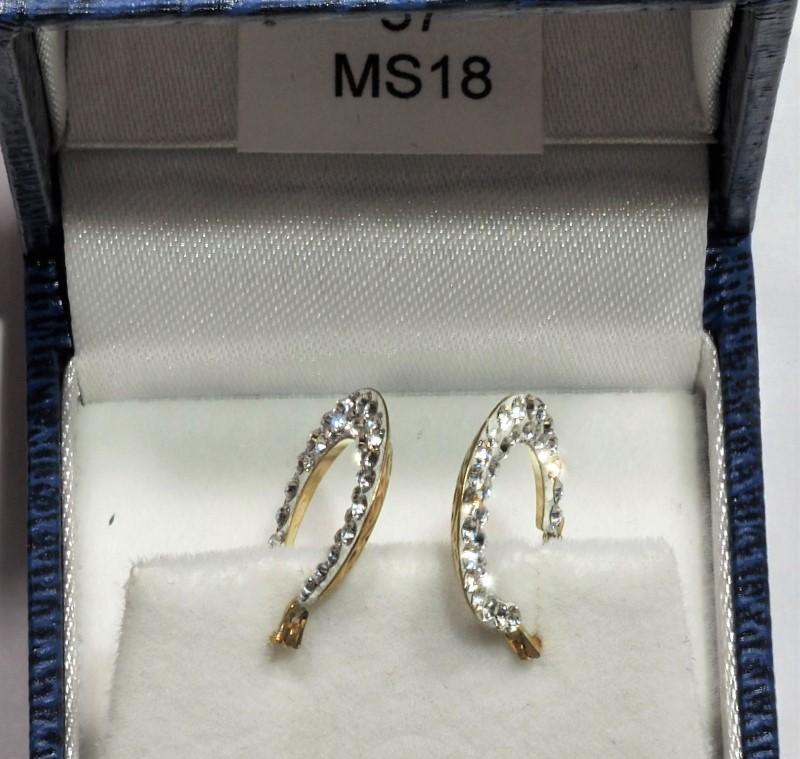 Lot 37 - 10K Gold Cubic Zirconia Hoop Earrings, Retail $350 (MS19 - 37)