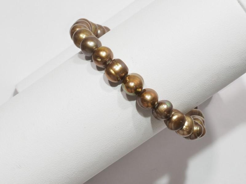 Lot 47 - Felxible Yellow Freshwater Pearl Bracelet, Retail $100 (MS19 - 47)