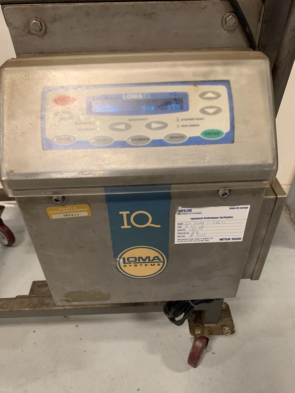 Lot 7A - Loma IQ Flow Through Metal Detector, Aperture: Approx 6.5in ID, S/N 19073 | Rig Fee: 100