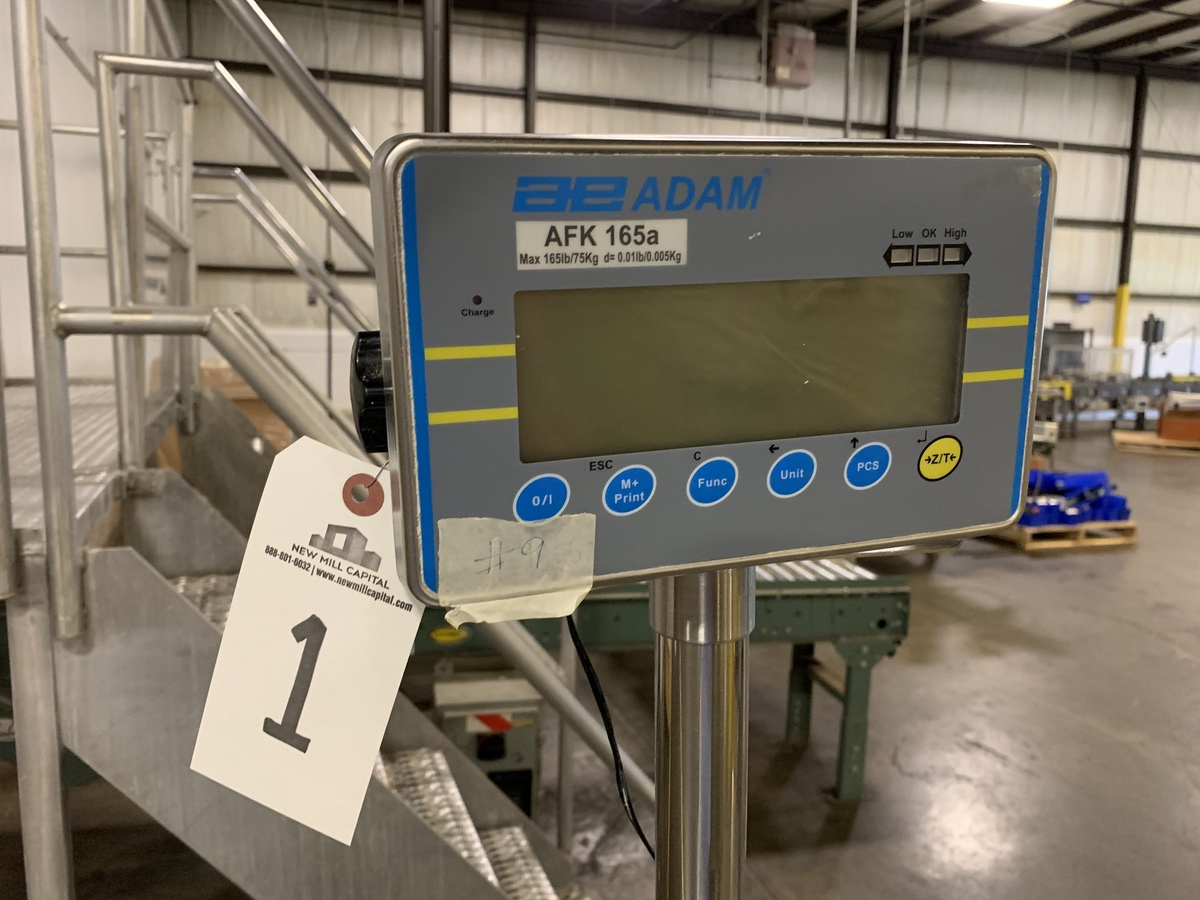 Lot 2A - AE Adam SS Benchtop Scale , 19 x 15 Platform | Rig Fee: 25
