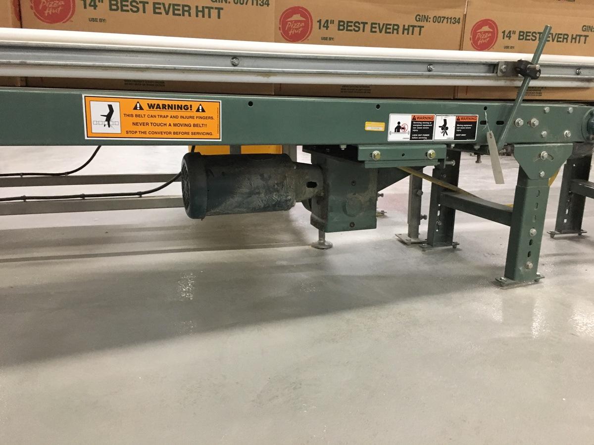 Lot 1N - 2013 Hytrol Powered Belt Conveyor, 14in W Belt, 25ft Length | Insp by Appt | Rig Fee: 175
