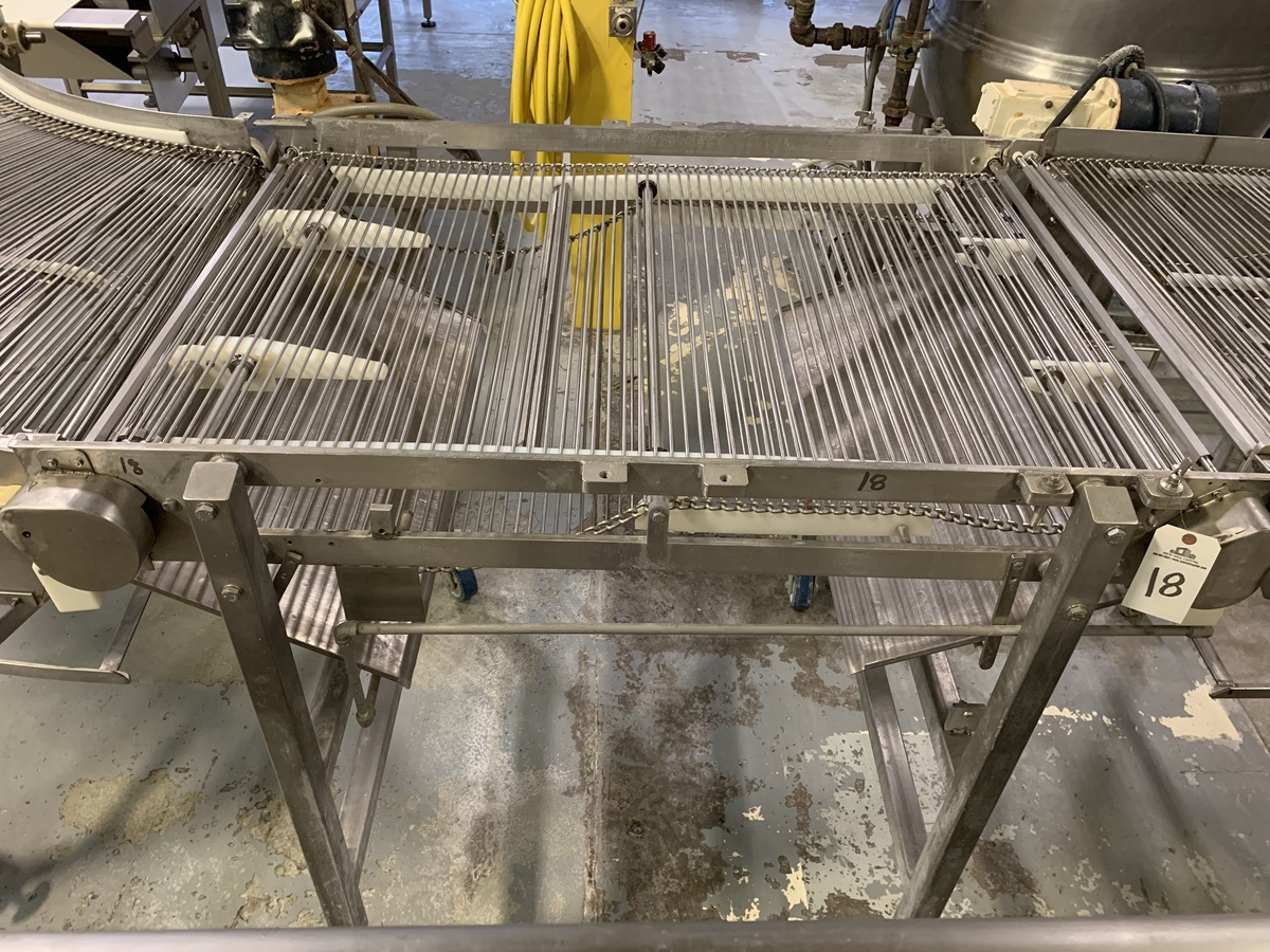 """Lot 18 - Stainless Steel Frame Stainless Conveyor, 36"""" x 55"""" Belt 