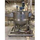 2003 Hamilton 150 Gallon Sweep Scrape Agitated Kettle, 125 PSI Jacket with Onboard | Rig Fee: 400