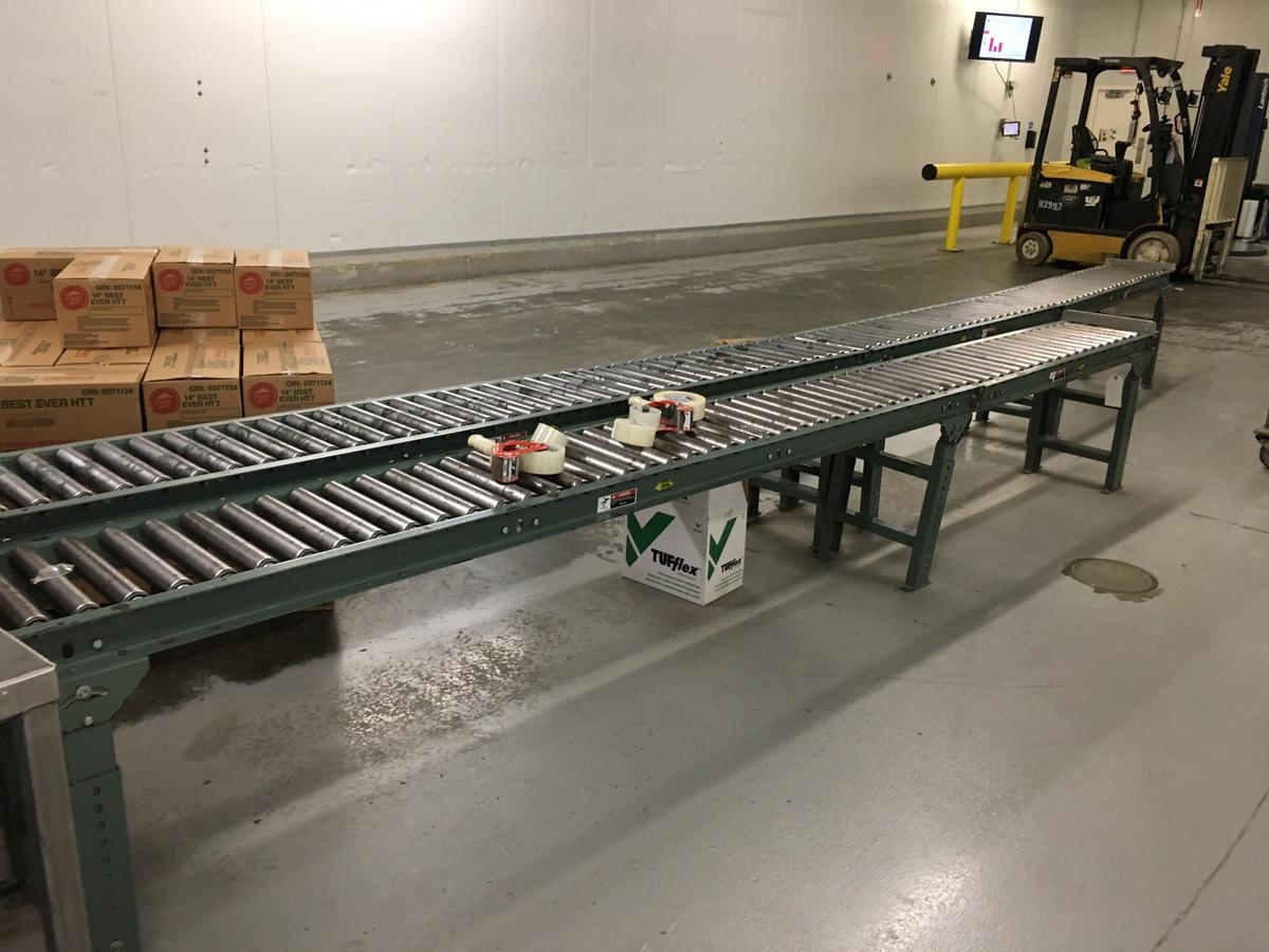 Lot 1S - 2013 Hytrol Manual Roller Conveyor, 13in Rollers, 37ft Total Length | Insp by Appt | Rig Fee: 300