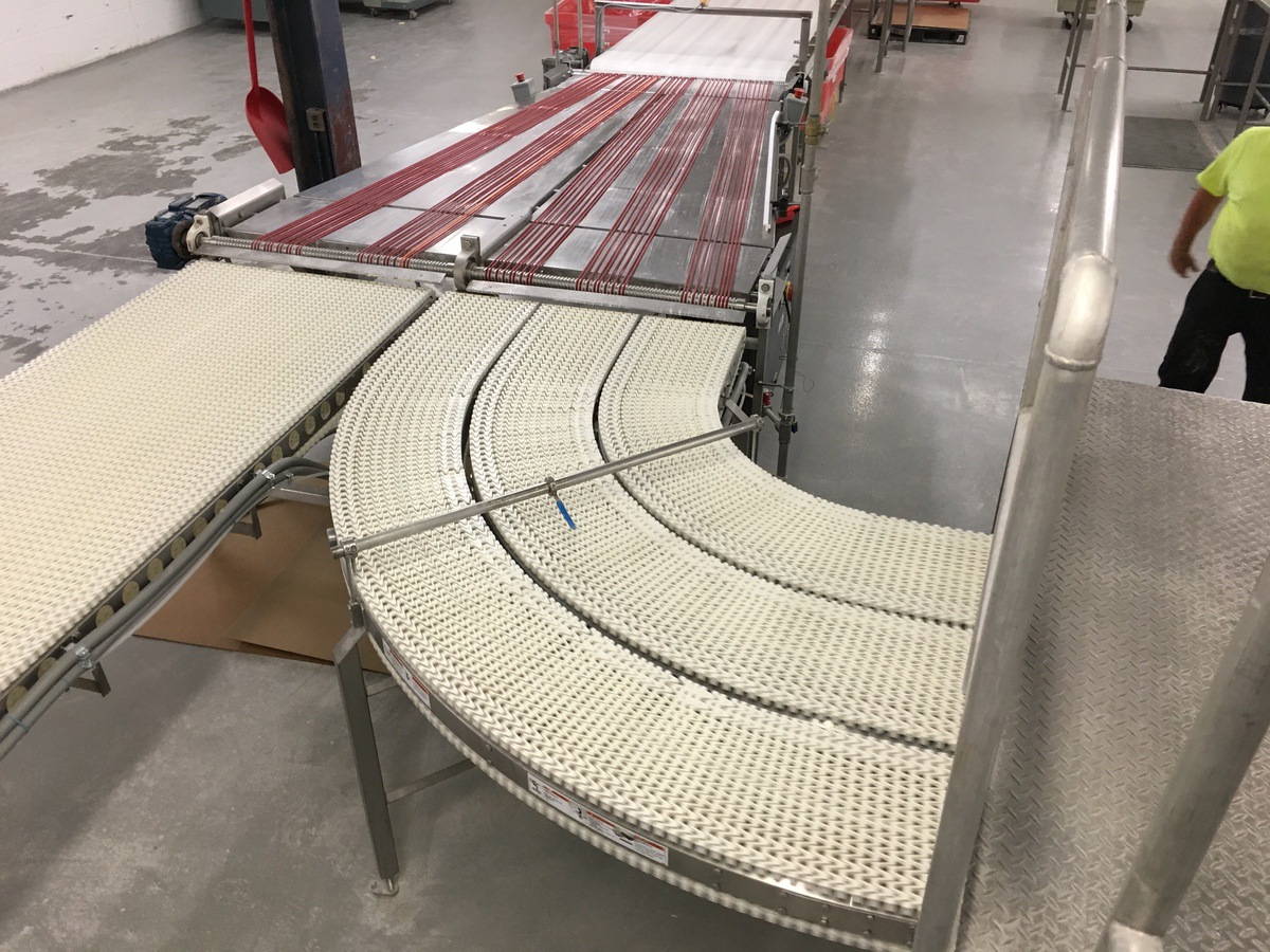Lot 1C - 2013 S-Curve SpanTech Conveyor, (2) 90Deg Turns, 42in Wide Belt, Stain | Insp by Appt | Rig Fee: 150