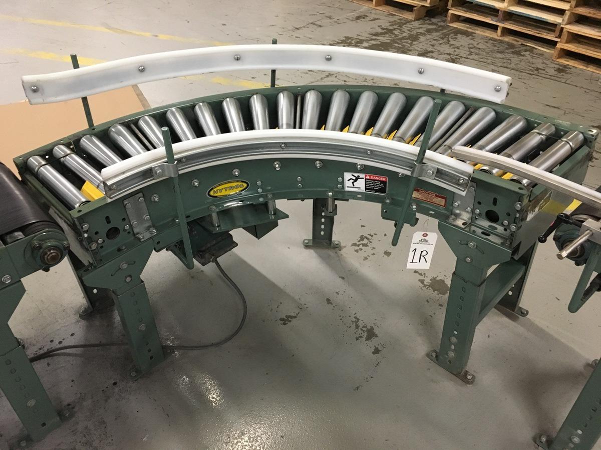 Lot 1R - 2013 Hytrol 90Deg Roller Conveyor, 12in Rollers | Insp by Appt | Rig Fee: 50