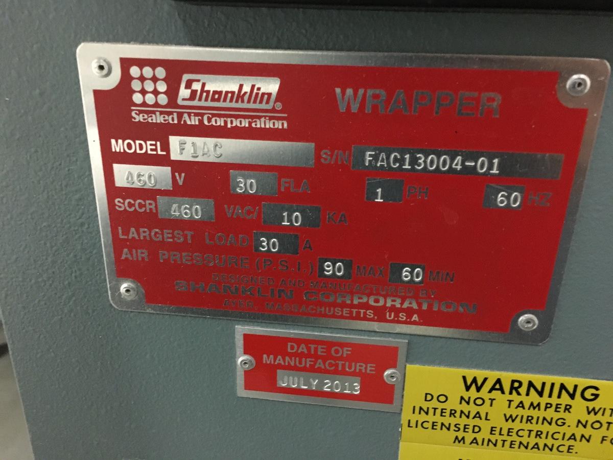 Lot 1U - 2013 Shanklin F1AC FloWrap Form-Fill Seal Shrink Flow Wrapper, 52in Fi | Insp by Appt | Rig Fee: 350