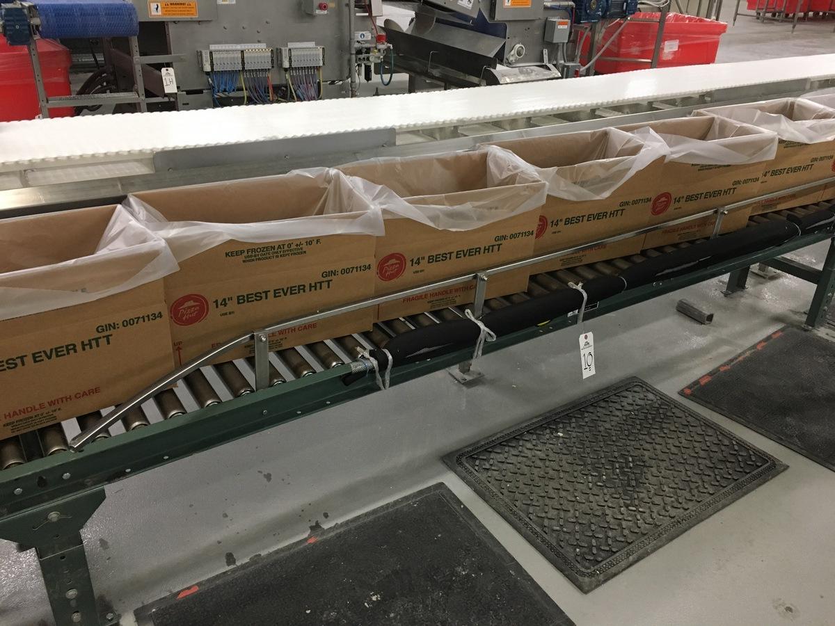 Lot 1O - 2013 Hytrol Manual Roller Conveyor, 13in Rollers, 25ft Length | Insp by Appt | Rig Fee: 175
