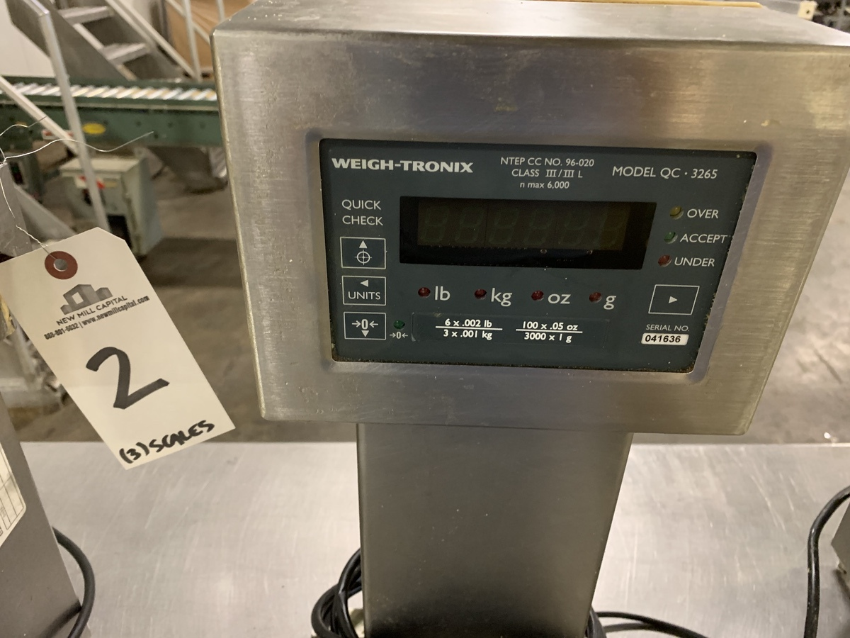 Lot 2 - (3) Weightronix QC 3265 Benchtop Scales , | Rig Fee: 25