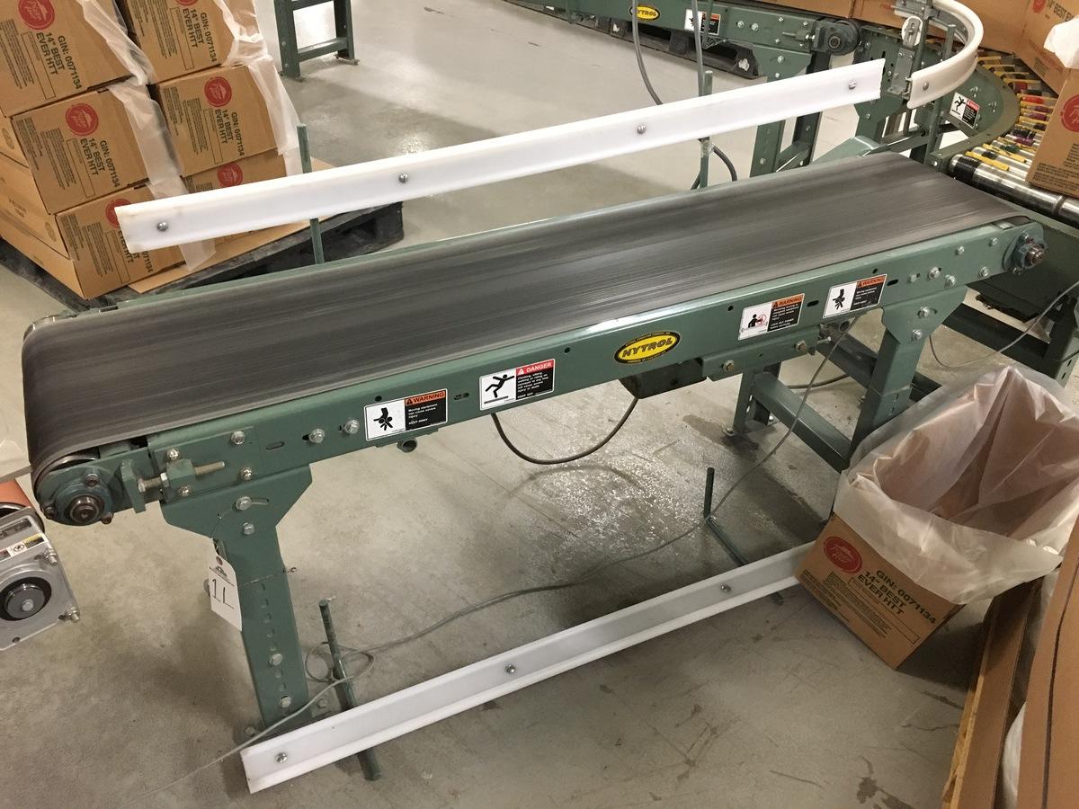 Lot 1L - 2013 Hytrol Powered Belt Conveyor, 14in W Belt, 6ft Length | Insp by Appt | Rig Fee: 50