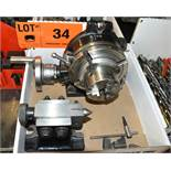 "ROTARY INDEXING HEAD WITH 6"" DIA. TABLE, 3"" 3 JAW CHUCK & TAILSTOCK"