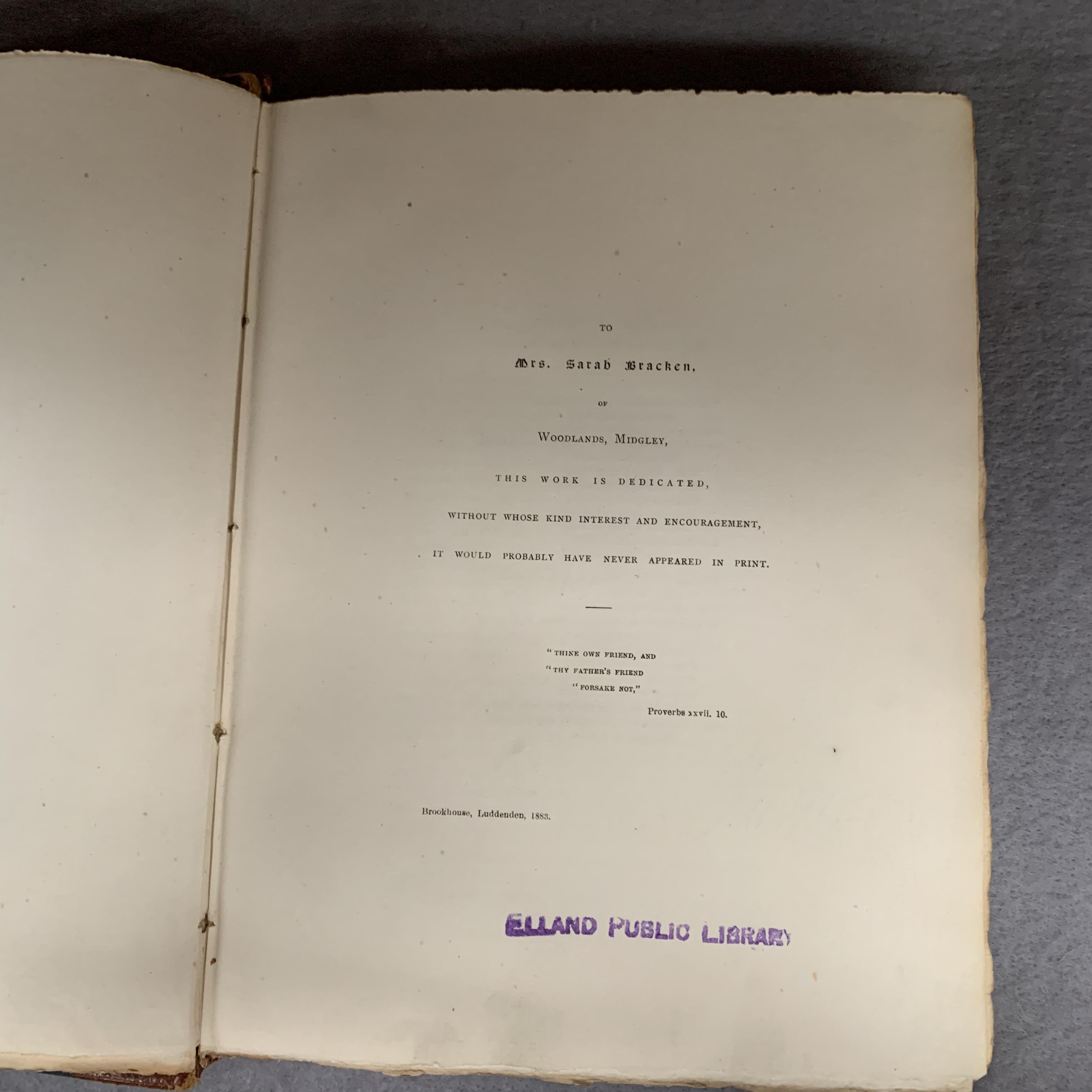 Walter James Walker chapters on The Early  Register of Halifax Parish Church from the local - Image 3 of 4