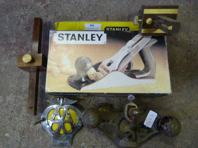 Lot 105 - Record No.071 Plane, Stanley Plane, Two Mortise Ga