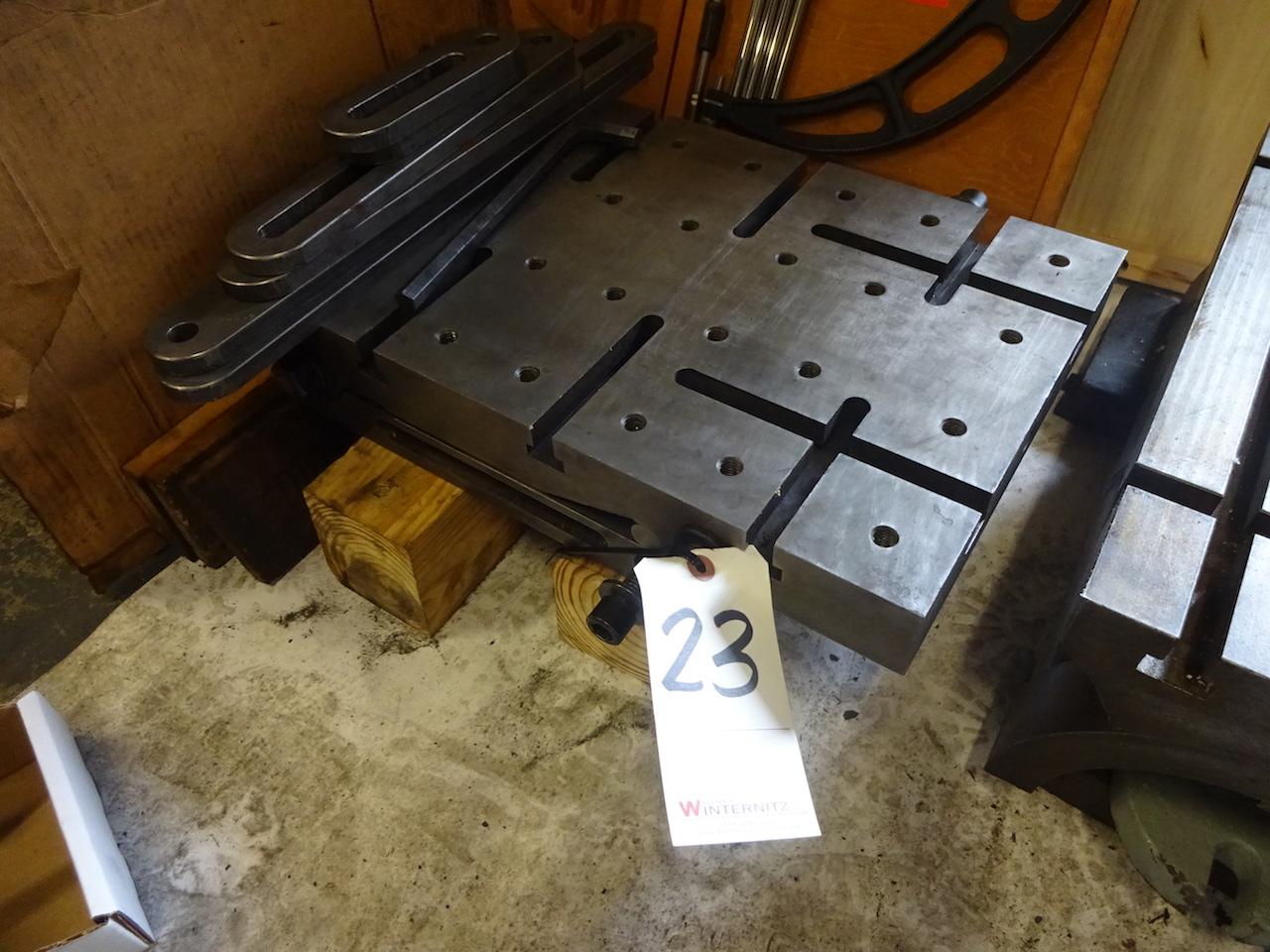 Lot 23 - Adjustable T-Slot Plate