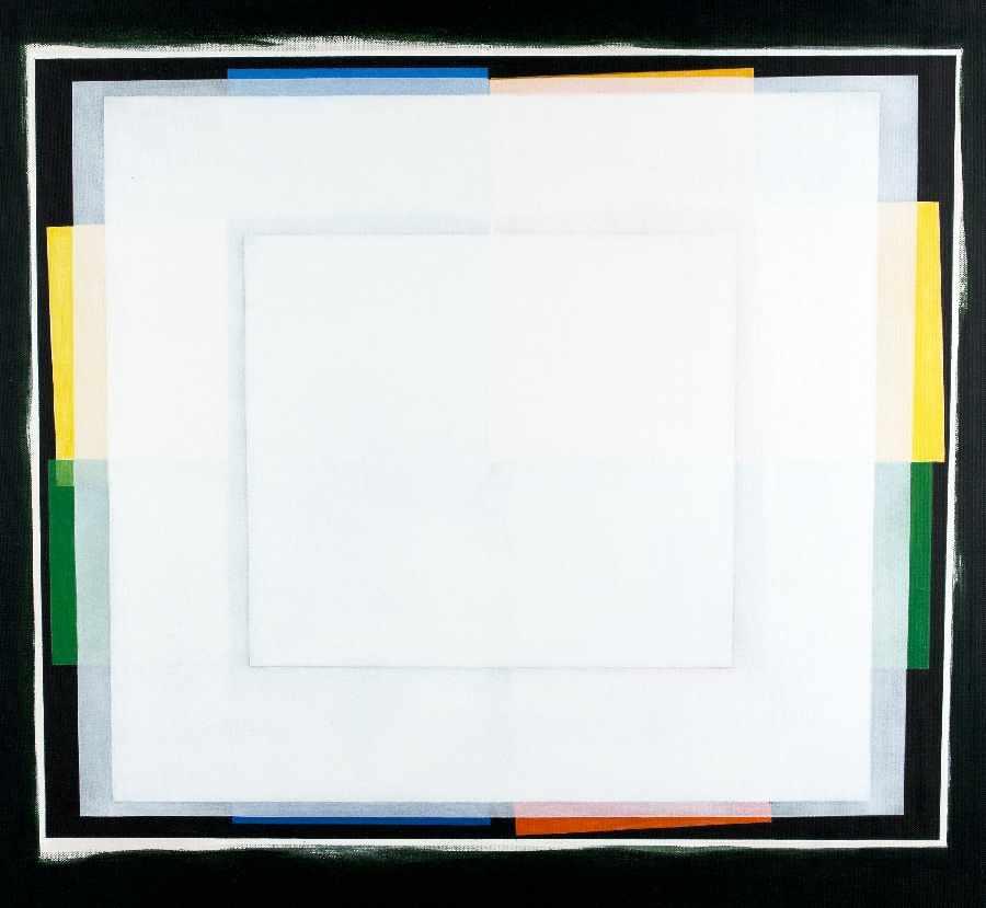 Artur Brunsz1929 WarschauHommage a AlbersAcrylic on canvas; H 60 cm, W 60 cm; verso signed,