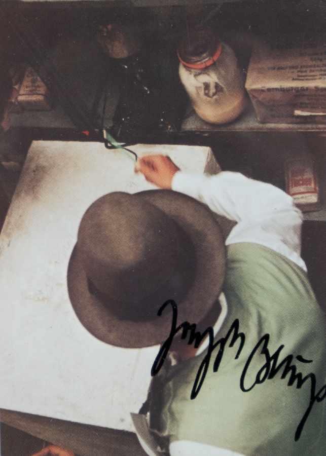 Joseph Beuys1921 Kleve - 1986 DüsseldorfDas Wirtschaftswert PRINZIP 1 WärmeOffset on paper; H 170