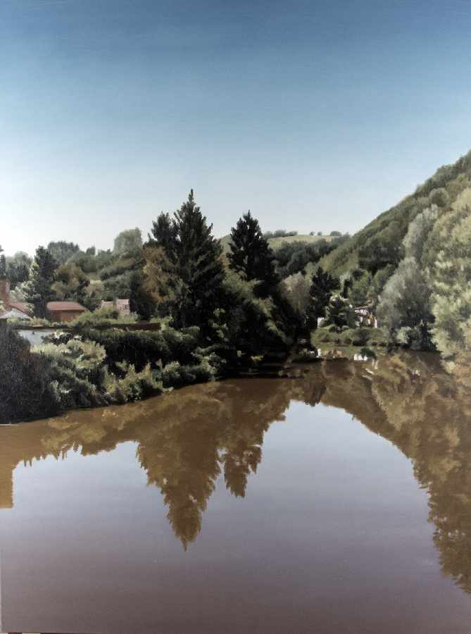 Andreas Schön1955FrontierOil on canvas; H 120 cm, W 90 cm; verso signed, dated and titledAndreas